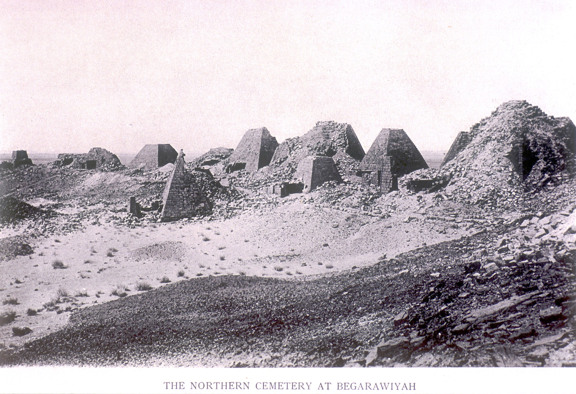 Pyramids from Begrawiyah Northern Cemetery, Meroe, Sudan, dating between 270 B.C and A.D. 350.