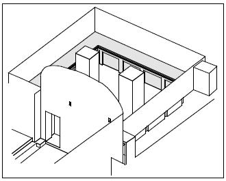 The grey area in this diagram indicates benches in a tomb chamber.
