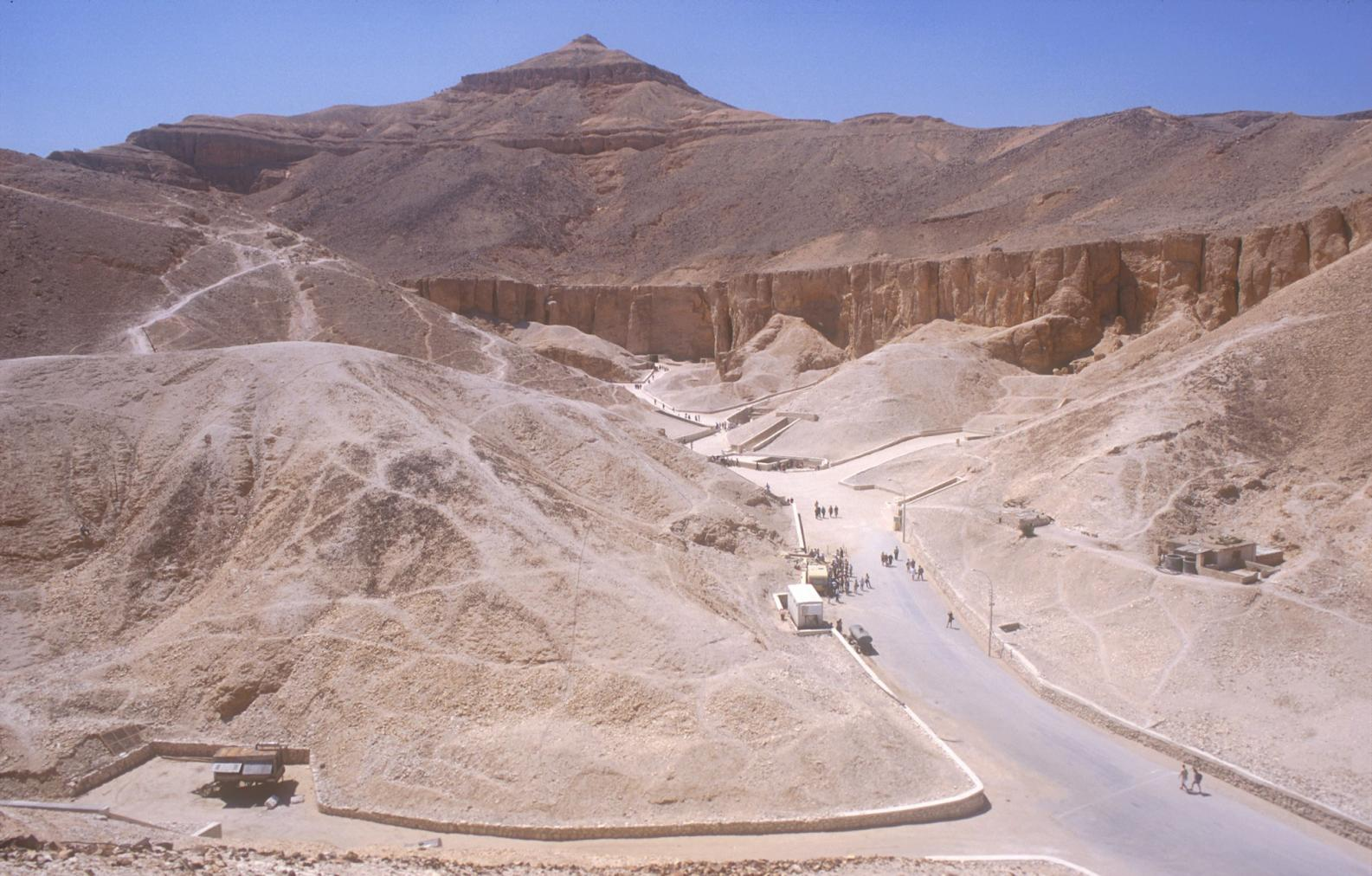 Valley of the Kings with pyramid-shaped Qurn above.