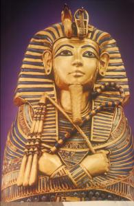 Miniature coffin of Tutankhamen.