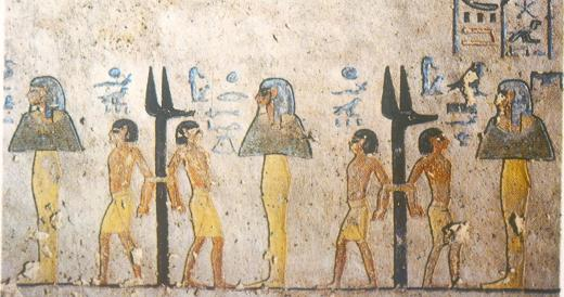 The seventh hour of the Book of Gates in the tomb of Rameses III.