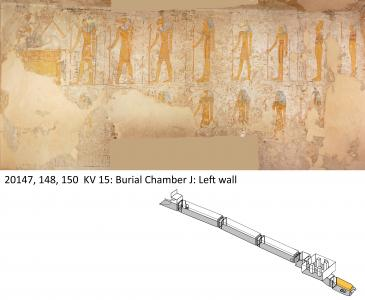 Left wall, burial chamber.