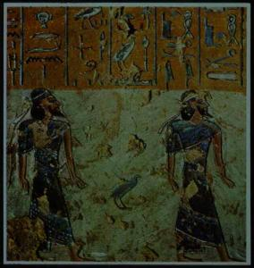 Asiatics in the fifth hour of the Book of Gates in the tomb of Rameses III.