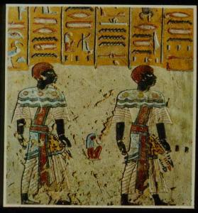 Nubians in the fifth hour of the Book of Gates in the tomb of Rameses III.