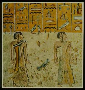 Libyans in the fifth hour of the Book of Gates in the tomb of Rameses III.