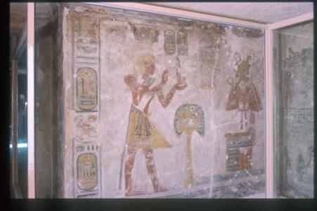Rameses III offering Ma'at to Osiris.