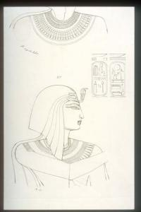 Portrait (reversed) of Rameses III offering to [Ptah-Sokar].
